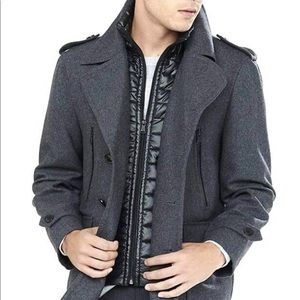 Express Tech Wool Blend Water Resistant  Peacoat